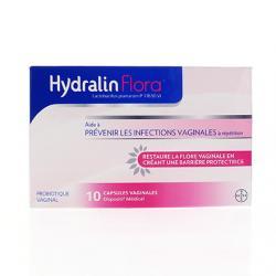 HYDRALIN FLORA CAPS VAGINAL 10