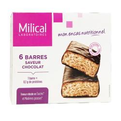 Barres minceur hyperprotéinées saveur chocolat - 6 barres
