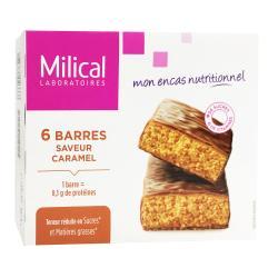 Barres Minceur Hyperprotéinées Saveur Caramel Boite de 6