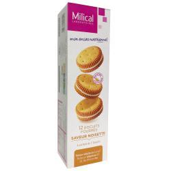 Les Aides Minceur Biscuits Fourrés Noisette Protéinés 6 sachets de 2 biscuits