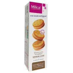 Les Aides Minceur Biscuits Fourrés Café Protéinés 6 sachets de 2 biscuits