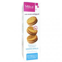 Biscuits fourrés saveur vanille - paquet de 12 biscuits
