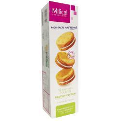 Les Aides Minceur Biscuits Fourrés Citron Protéinés 6 sachets de 2 biscuits