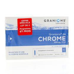 Chrome duo 200 microgramme 2x30 ampoules de 2ml
