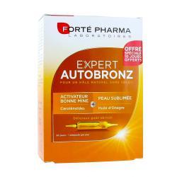 Expert Autobronz 20 ampoules + 10 Offertes Goût Abricot