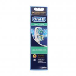 Oral b dual clean brossettes de remplacement x3