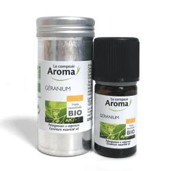 LE COMPTOIR DU PHARMACIEN Huile essentielle bio géranium rosat flacon 5ml