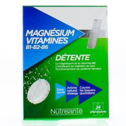 Magnesium + vitamines b1 b2 b6 24 comprimes effervescents