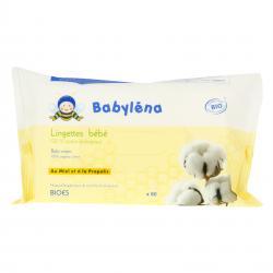 BABYLÉNA Lingettes bébé 100% coton bio x 60