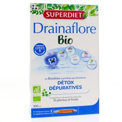 Complément alimentaire détox Drainaflore - 20 ampoules de 15 ml
