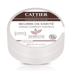 Beurre de karite visage corps et cheveux bio 100g