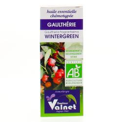 Huile essentielle de gaulthérie bio flacon 10ml