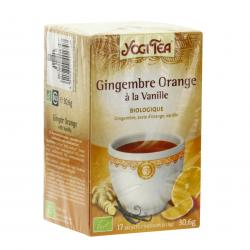 HERBA VIVA Yogi tea gingembre orange vanille bio 17 sachets