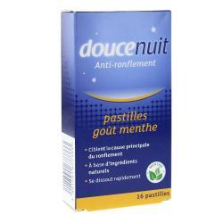 DOUCE NUIT Pastilles double action anti-ronflement x 16