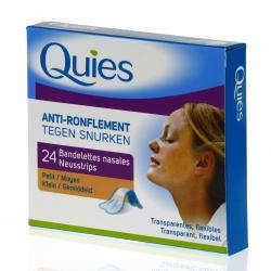 Bandelettes nasales anti-ronflement transparentes petites boite de 24