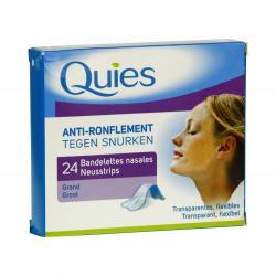 Bandelettes nasales anti-ronflement transparentes grande boite de 24