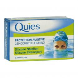Protection auditive silicone spéciale natation - 3 paires