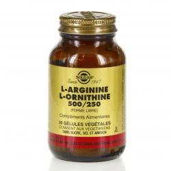 L- Arginine L- Ornithine 500 mg/250 mg - 50 gélules