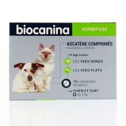 Ascatène Vermifuge polyvalent chiens et chats de plus de 2 kg - 10 comprimés