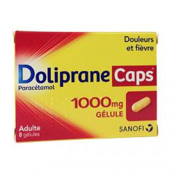 Doliprane Caps 1000 mg Boîte de 8 gélules