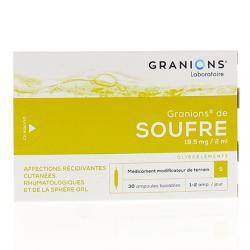 Granions de soufre 19,5 mg/2 ml Boîte de 30 ampoules