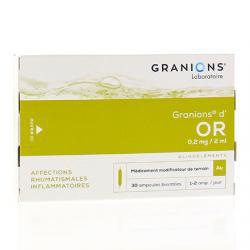 Granions d'or 0,2 mg/2 ml Boîte de 30 ampoules