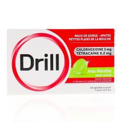 DRILL Sans sucre anis menthe Boîte de 24 pastilles