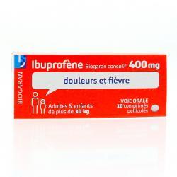 BIOGARAN Ibuprofène 400mg Boîte de 10 comprimés