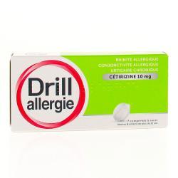 DRILL Allergie cétirizine 10mg Boîte de 7 comprimés