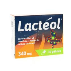 Lactéol 340 mg Boîte de 30 gélules