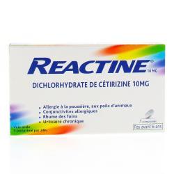 Actifed allergie cétirizine 10 mg Boîte de 7 comprimés