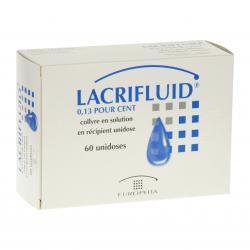Lacrifluid 0,13 pour cent Boîte de 60 récipients unidoses
