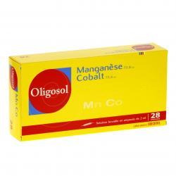 Manganèse-cobalt oligosol Boîte de 28 ampoules