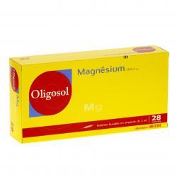 Magnesium oligosol Boîte de 28 ampoules