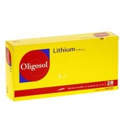 Lithium oligosol Boîte de 28 ampoules