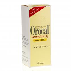 Orocal vitamine d3 500 mg/200 u.i. Flacon de 180 comprimés
