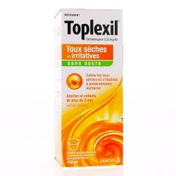 Toplexil 0,33 mg/ml sans sucre Flacon de 150 ml