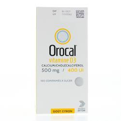 Orocal vitamine d3 500 mg/400 u.i. Boîte de 180 comprimés