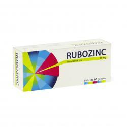Rubozinc 15 mg Boîte de 60 gélules