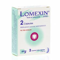 LOMEXIN 600 mg Boîte de 2 capsules