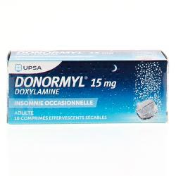 Donormyl 15 mg Tube de 10 comprimés effervescents