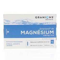 Granions de magnesium 3,82 mg/2 ml Boîte de 30 ampoules