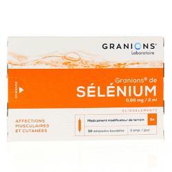 Granions de selenium 0,96 mg/2 ml Boîte de 30 ampoules