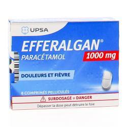 Efferalgan 1g Boîte de 8 comprimés