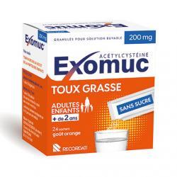 Exomuc 200 mg Boîte de 24 sachets