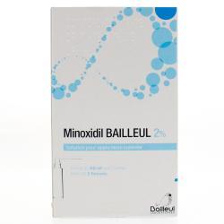 Minoxidil bailleul 2 % 3 Flacons de 60 ml