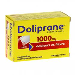 Doliprane 1000 mg Boîte de 8 sachets-doses