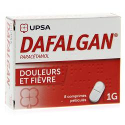 Dafalgan 1 g Boîte de 8 comprimés