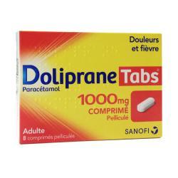Doliprane Tabs 1000 mg Boîte de 8 comprimés