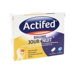 Actifed rhume jour et nuit Boîte de 16 comprimés